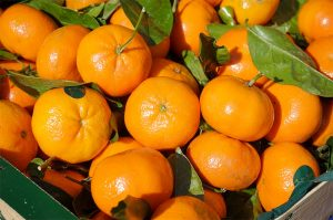 Mandarina, Mercadillo de La Matanza de Acentejo.