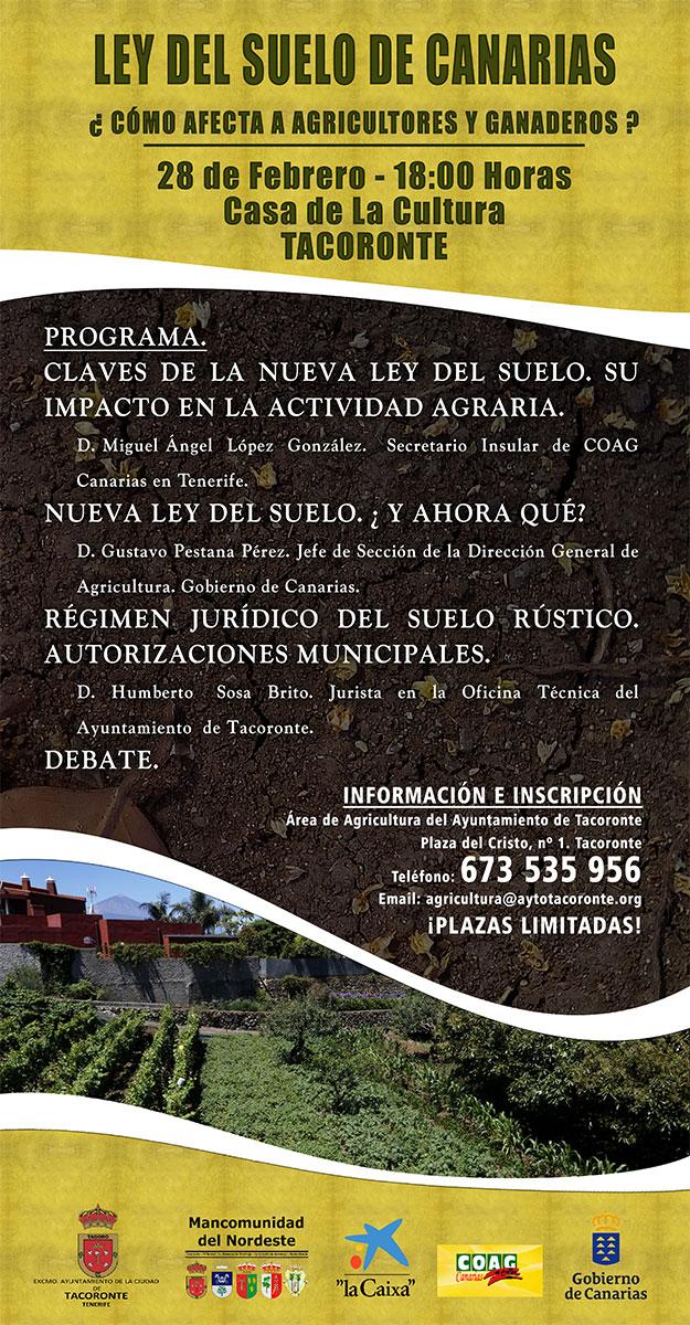 Ley del Suelo de Canarias, en la Casa de la Cultura de Tacoronte.