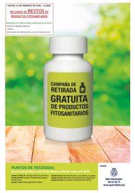 Campaña de retirada gratuita de productos fitosanitarios.