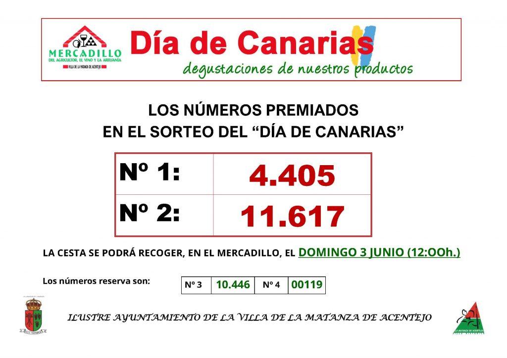 SORTEO DEL DIA DE CANARIAS